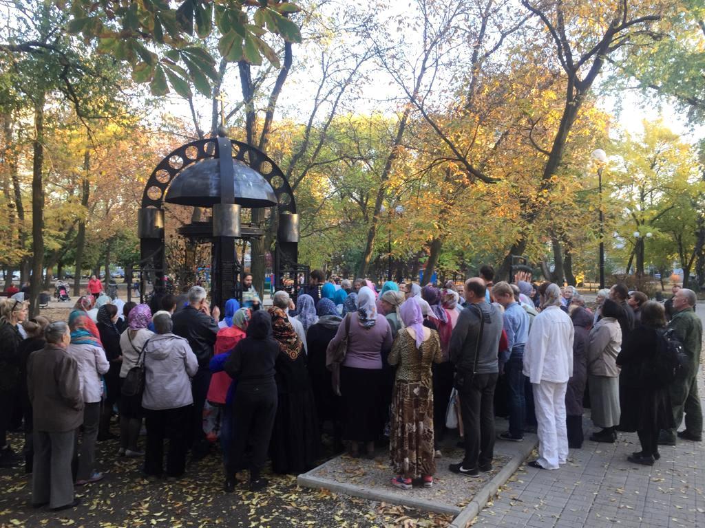 Молебен в часовне святых Космы и Дамиана